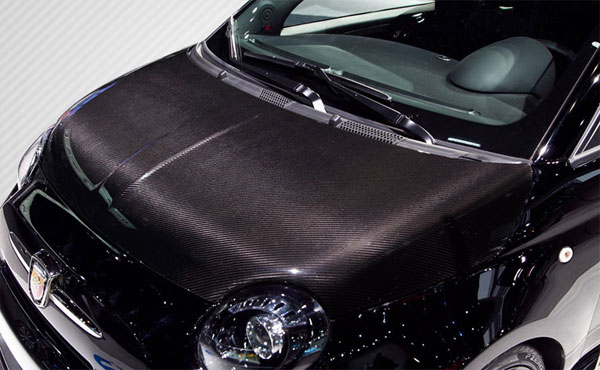 Carbon Creations (113135) 2012-2015 Fiat 500 Carbon Creations DriTech OEM Hood - 1 Piece
