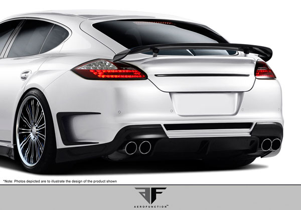 Aero Function 108386:  2010-2013 Porsche Panamera AF-1 Wide Body Rear Bumper Cover ( PUR-RIM ) - 1 Piece