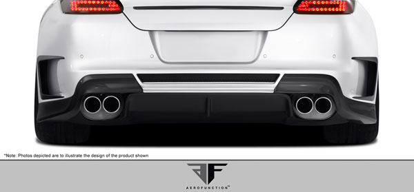 Aero Function 108387:  2010-2013 Porsche Panamera Carbon AF-1 Wide Body Rear Add-Ons with Diffuser ( CFP ) - 3 Piece