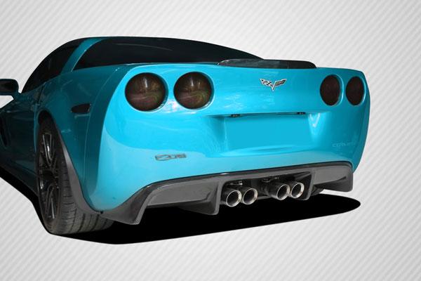 Carbon Creations 108411   2005-2013 Chevrolet Corvette C6 Carbon Creations GT500 Rear Diffuser - 1 Piece