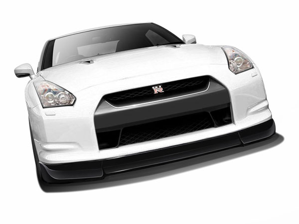 Aero Function 108539:  2009-2011 Nissan GT-R R35 Carbon AF-2 Front Add-On Spoiler ( CFP ) - 1 Piece