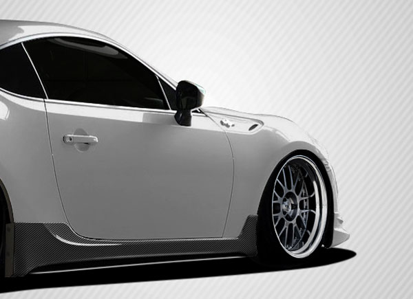 Carbon Creations 108543 | Scion FR-S Subaru BRZ Carbon Creations TD3000 Side Skirts Rocker Panels 2-Piece; 2013-2016