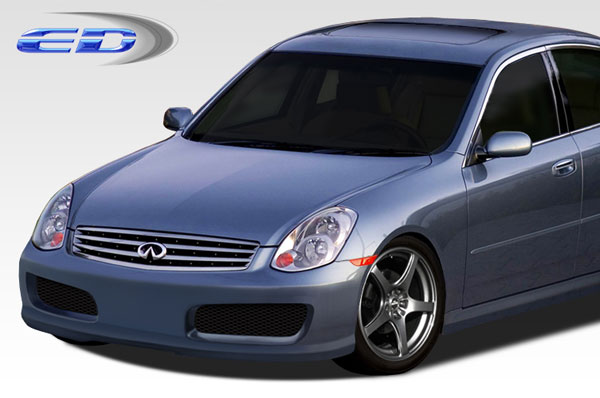 Extreme Dimensions 108566: 2005-2006 Infiniti G Sedan G35 Polyurethane N-1 Front Bumper Cover - 1 Piece
