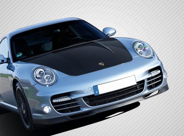 Carbon Creations 108582 | Porsche Cayman Porsche Boxster Porsche 997 Carbon Creations Eros Version 1 Hood 1-Piece; 2005-2012