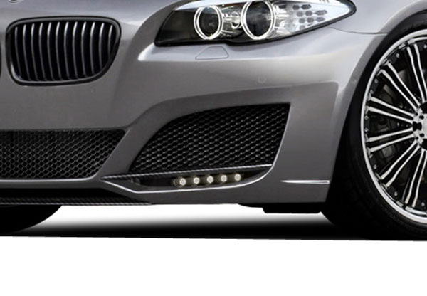 Aero Function 108603: 2011-2016 BMW 5 Series F10 4DR AF-3 Front Bumper Add Ons ( CFP ) - 2 Piece