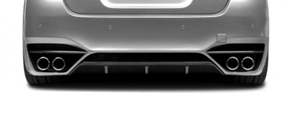 Aero Function 108606: 2011-2016 BMW 5 Series F10 4DR AF-3 Rear Diffuser ( CFP ) - 1 Piece