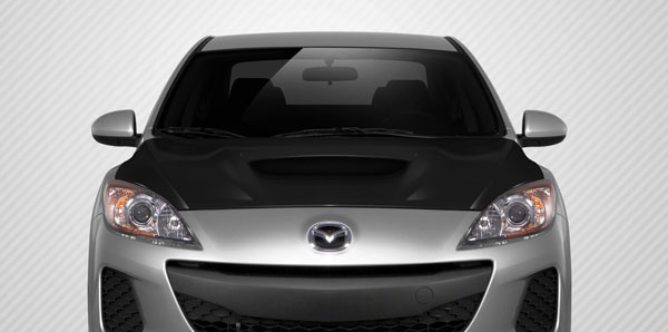 Carbon Creations 108683: 2010-2013 Mazda3 Carbon Creations M-Speed Hood - 1 Piece