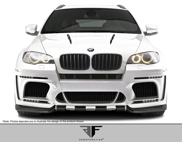 Aero Function 108718:  2008-2014 BMW X6 X6M E71 10-13 X5M E70 AF-5 Wide Body Front Bumper Cover ( GFK ) - 1 Piece