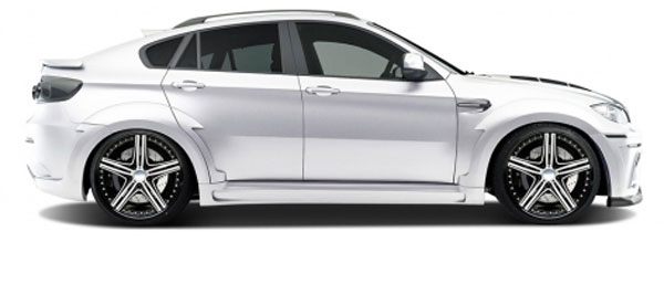Aero Function 108719:  2008-2014 BMW X6 E71 E72 AF-5 Wide Body Side Skirts ( GFK ) - 2 Piece