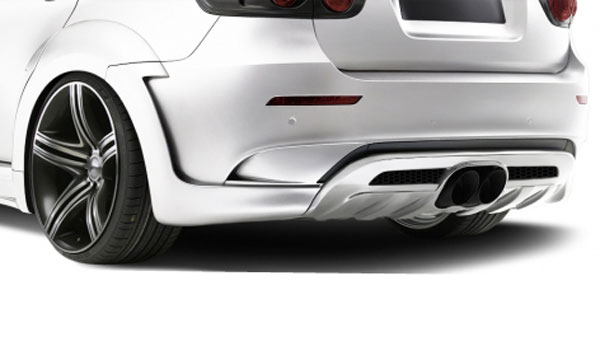 Aero Function 108720: 2008-2014 BMW X6 E71 AF-5 Wide Body Rear Diffuser with Exhaust Covers ( GFK ) - 3 Piece