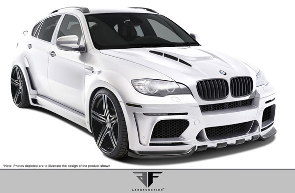 Aero Function 108727: 2008-2014 BMW X6 E71 AF-5 Wide Body Complete Kit ( GFK ) - 16 Piece