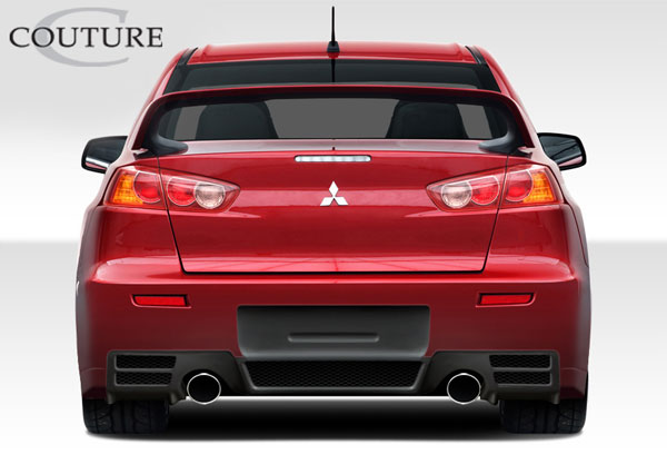 Couture 108732: 2008-2015 Mitsubishi Lancer Evolution 10  C-Speed Rear Bumper Cover - 1 Piece