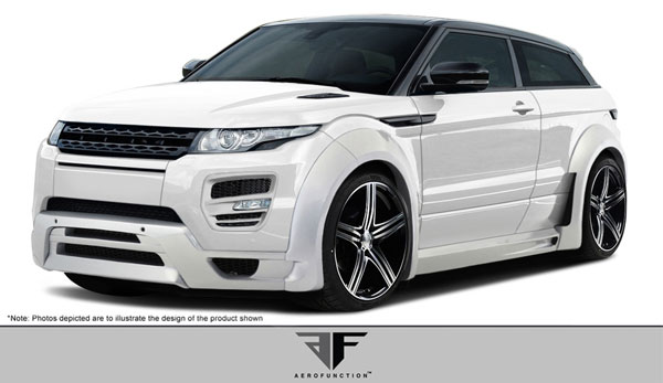 Aero Function 108746: 2012-2015 Land Rover Range Rover Evoque Dynamic AF-1 Complete Kit ( GFK ) - 9 Piece