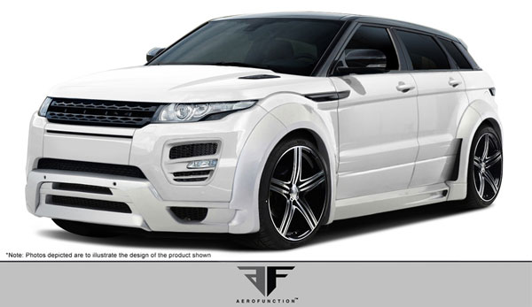 Aero Function 108747: 2012-2015 Land Rover Range Rover Evoque Dynamic 5DR AF-1 Wide Body Complete Kit ( GFK ) - 20 Piece