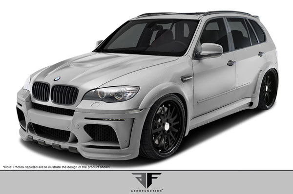 Aero Function 108751:  2010-2013 BMW X5M E70 AF-1 Wide Body Complete Kit ( GFK ) - 12 Piece