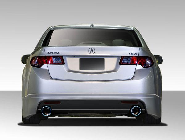 Duraflex 108765 | Acura TSX Duraflex Type M Rear Lip Under Spoiler Air Dam 1-Piece; 2009-2014