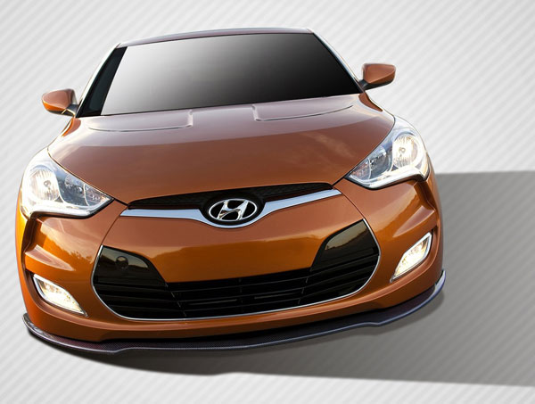 Carbon Creations 108896: 2012-2016 Hyundai Veloster Carbon Creations GT Racing Front Splitter - 1 Piece
