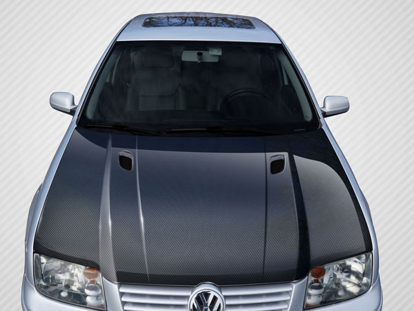 Carbon Creations 108908: 1999-2004 Volkswagen Jetta Carbon Creations RV-S Hood - 1 Piece