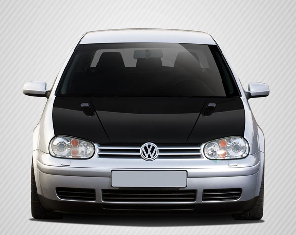 Carbon Creations 108909: 1999-2005 Volkswagen Golf GTI  RV-S Hood - 1 Piece