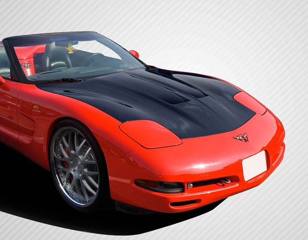 Carbon Creations (108911) 1997-2004 Chevrolet Corvette C5 Carbon Creations GT Concept Hood - 1 Piece