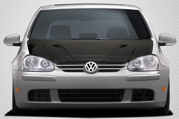 Carbon Creations 108913 | Volkswagen Jetta Golf GTI Rabbit Carbon Creations RV-S Hood 1-Piece; 2005-2010