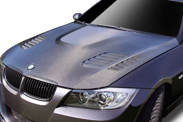 Aero Function 108933:  2006-2008 BMW 3 Series E90 4DR Carbon AF-1 Hood ( CFP ) - 1 Piece