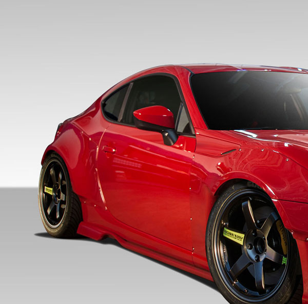 Duraflex 109032 | Scion FR-S BRZ Duraflex GT500 Wide Body Side Splitters 2-Piece; 2013-2016