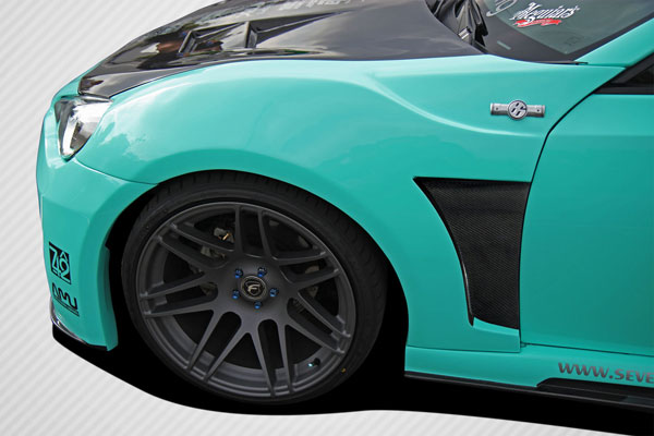 Carbon Creations 109035 | Scion FR-S Subaru BRZ Carbon Creations 86-R Wide Body Front Fenders 2-Piece; 2013-2016