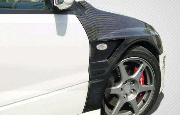 Carbon Creations 109063 | Mitsubishi Lancer Evolution 8 9 Carbon Creations Vented Fenders 2-Piece; 2003-2006