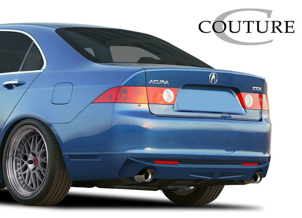 Couture (109158) 2004-2005 Acura TSX Couture Vortex Rear Lip Under Spoiler Air Dam - 1 Piece