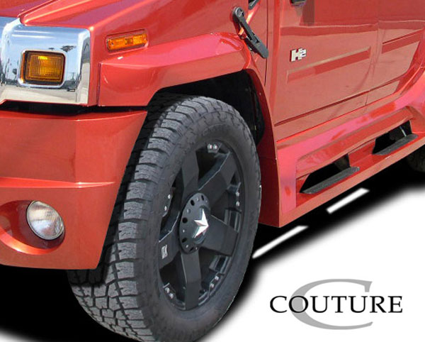 Couture 109172: 2003-2009 Hummer H2 Couture Vortex Wide Body Front Fender Flares - 4 Piece