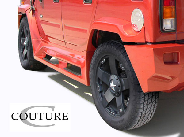 Couture (109173) 2003-2009 Hummer H2 Couture Vortex Wide Body Rear Fender Flares - 2 Piece