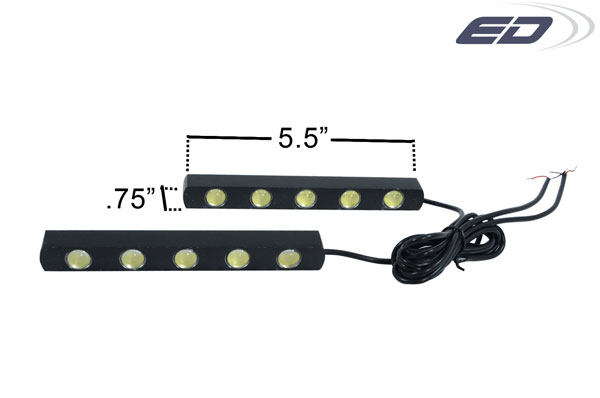 Extreme Dimensions 109238: Universal LED Daytime Running Light 5 - 2 Piece