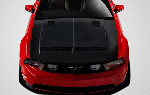 Carbon Creations 109261: 2010-2012 Ford Mustang Carbon Creations GT500 Hood - 1 Piece