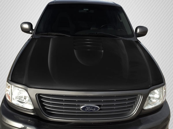 Carbon Creations 109263: 1997-2003 Ford F-150 / F-250 / 1997-2002 Ford Expedition Carbon Creations CV-X Hood - 1 Piece
