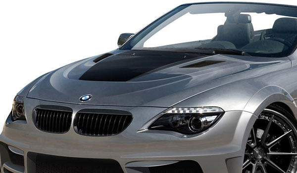 Aero Function 109271: 2004-2010 BMW 6 Series M6 E63 E64 2DR Convertible AF-2 Hood ( GFK ) - 1 Piece