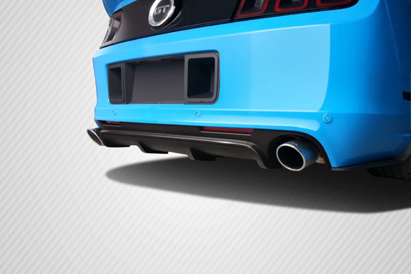 Carbon Creations 109322 | Ford Mustang Carbon Creations Boss Look Rear Diffuser 1-Piece; 2013-2014