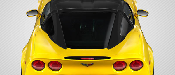 Carbon Creations 109406: 2005-2013 Chevrolet Corvette C6  Stingray Look Roof Window Rail Halo Kit - 3 Piece