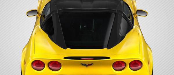 Carbon Creations 109406 | Chevrolet Corvette C6 Carbon Creations Stingray Look Roof Window Rail Halo Kit 3-Piece; 2005-2013