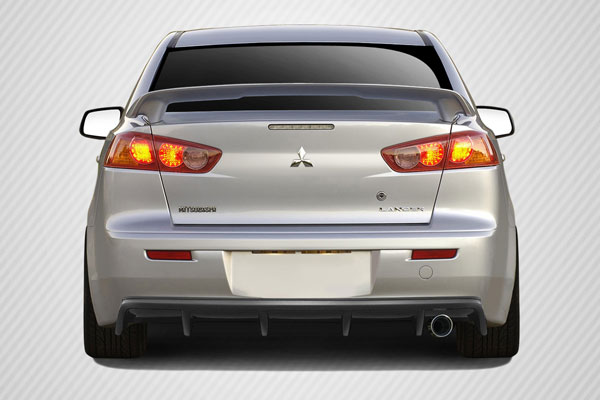 Carbon Creations 109421: 2008-2015 Mitsubishi Lancer 4DR Carbon Creations M Power Rear Diffuser - 1 Piece