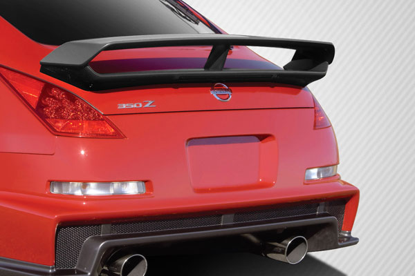 Carbon Creations 109422 | Nissan 350Z 2DR Coupe Carbon Creations N-3 Trunk Wing Spoiler 1-Piece; 2003-2008