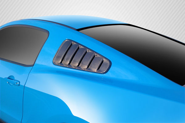 Carbon Creations 109432: 2010-2014 Ford Mustang Carbon Creations Boss Look Window Scoops Louvers - 2 Piece