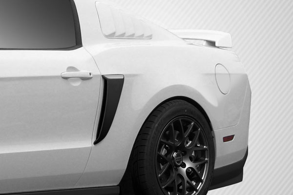 Carbon Creations 109433: 2010-2014 Ford Mustang Carbon Creations Boss Look Side Scoops - 2 Piece