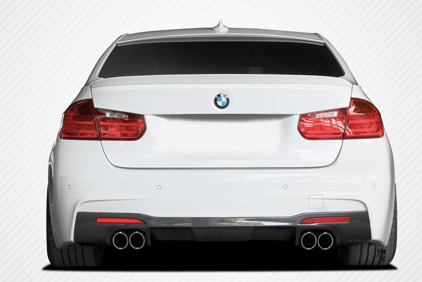 Carbon Creations 109440: 2012-2016 BMW 3 Series M Sport 4DR F30  Eros Version 1 Rear Diffuser - 1 Piece