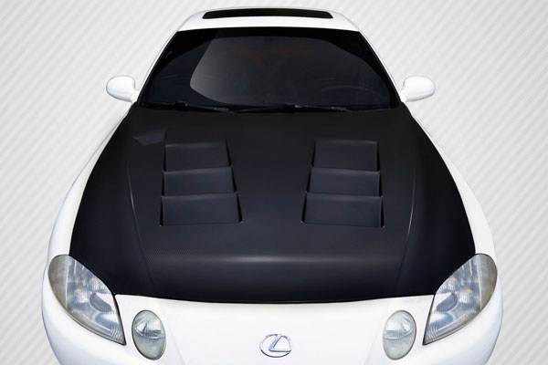 Carbon Creations 109493 | Lexus SC Series SC300 SC400 Carbon Creations TS-1 Hood 1-Piece; 1992-2000