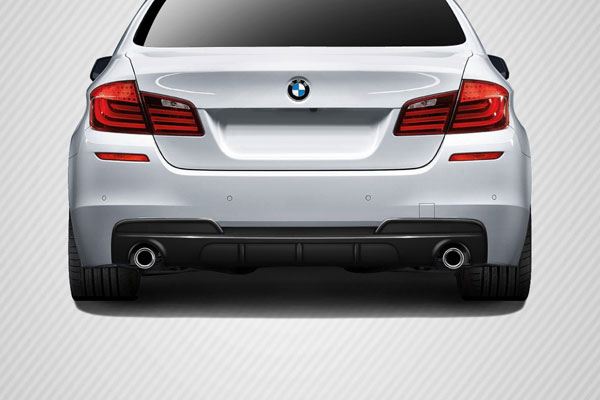 Carbon Creations 109558 | BMW 5 Series F10 Carbon Creations M Performance Look Rear Diffuser ( will only fit M Sport Bumpers) 1-Piece; 2011-2016