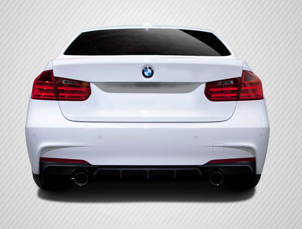 Carbon Creations (109561) 2012-2016 BMW 3 Series F30 Carbon Creations M Performance Look Rear Diffuser ( will only fit M Sport bumpers ) - 1 Piece
