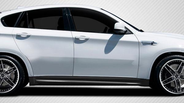 Carbon Creations 109567 | BMW X6 E71 E72 Carbon Creations M Performance Look Side Skirt Rocker Panels 2-Piece; 2010-2014