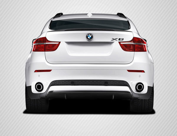 Carbon Creations 109569: 2010-2014 BMW X6 E71 E72 Carbon Creations M Performance Look Rear Diffuser Lip Under Air Dam Spoiler - 1 Piece