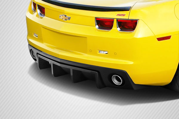 Carbon Creations (113147) 2010-2013 Chevrolet Camaro Carbon Creations DriTech H Sport Rear Diffuser - 1 Piece